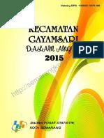Kecamatan Gayamsari Dalam Angka 2015
