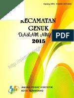 Kecamatan Genuk Dalam Angka 2015