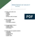 Manejo Administrativo de Sueldo y Salario
