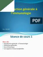 Introduction Générale à Limmunologie