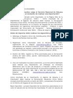 DOCUMENTACIÓN ADUANERA ECUADOR
