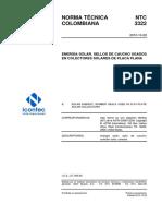 Ntc 3322, Sellos de Caucho Usados en Colectores Solares de Placa Plana