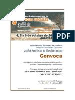 Mesa 11_DERECHOS HUMANOS Y CONFLICTOS SOCIALES_Convocatoria 5to Congreso Internacional de Ciencias Sociales UAZ 2017