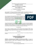 Ley Que Declara Area Protegida de Reserva y de Uso Multiple Cuenca Del Lago de Atitlan