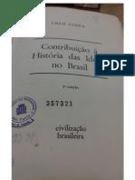 Contribuição à HIstória Das Ideias No Brasil