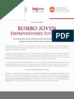 CONVOCATORIA RUMBO JOVEN Emprendedores Juveniles 2017