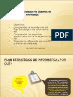 El Plan Estratégico de Sistemas de Información