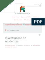 Investigação de Acidentes