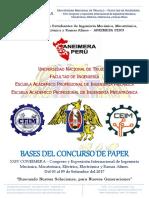 Bases Del Concurso de Paper  conimera 2017