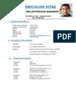 Curriculum Vitae Christian Jefferson Navarro Pinche