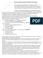 Distribución de Económica de La Argentina en La Etapa de Los Gobiernos Radicales Entre 1916 y 1930