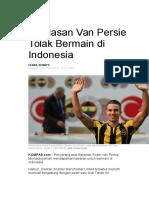 Ini Alasan Van Persie Tolak Bermain Di Indonesia