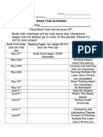 fantasy schedule book club schedule