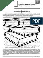 Breve Historia de La Lengua Latina y Nacimiento Del Español
