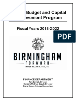 2018 Proposed Capital Budget