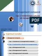 [MC-ro-prelegeri] [2] Fundametele Culturale Ale Managementului