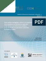 CIDH - RELE Guía Político - Pedagógica Incorporación Temática Libertad Expresión y Acceso Info