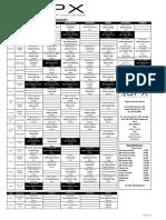 Aerobics Schedule