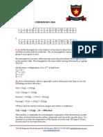 NECTA 2013 CHEMISTRY EXAMINATION ANSWERS