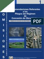 01_infr_Recomendaciones Referentes a los Pliegos del Régimen de Concesión de Obra Pública