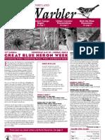 June 2008 Warbler Newsletter Portland Audubon Society