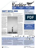 September 2008 Warbler Newsletter Portland Audubon Society