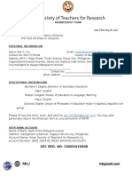 ASTR Individual Membership Form (ASTR)