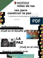 5 Retos de Los Jóvenes Para Construir La Paz