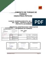 HAUG PROC P979 032 Procedimiento de Torqueo de Pernos