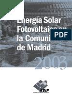 Energía Solar Fotovoltaica en la Comunidad de Madrid