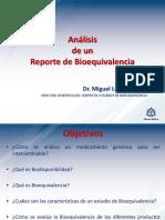Analisis de Un Reporte de Bioequivalencia