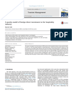 A Gravity Model of Foreign Direct Investment in the Hospitality Industry 2016 Tourism Management