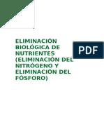 Eliminación Biológica de Nutrientes