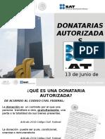 DONATARIAS AUTORIZADAS SAT