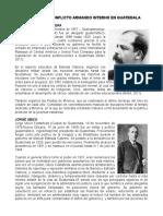 Autores Del Conflicto Armando Interno en Guatemala