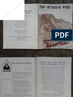 Orthodox Word July - August 1965