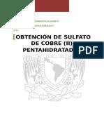 Sulfato de Cobre (II) Pentahidratado [REPORTE]