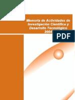 Memoria de Actividades de Investigación Científica y Desarrollo Tecnológico 2004 - Gobierno de Canarias
