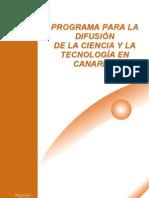 Programa para la Difusión de la Ciencia y la Tecnología en Canarias 2005-2006 - Gobierno de Canarias