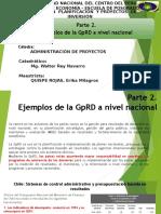 Ejemplos de La GpRD a Nivel Nacional