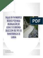 Fallas en Pavimentos Rígidos por el Ing. Aristides Trillo