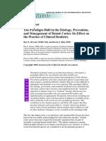 Paradigma Cambios en Etiologia, Prevencion y Manejo de Caries