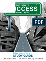 Certified Safety Professionals (CSP) Exam Study Guide