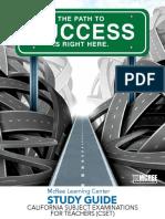 California Subject Examinations for Teachers (CSET) Study Guide