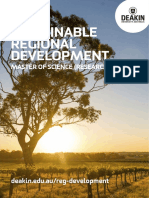 Sustainable Regional Development Course Flyer
