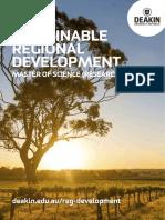 Sustainable Regional Development Course Flyer