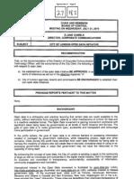 City of London Open Data Initiative - Board of Control Report