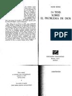 Küng, H., 24 Tesis Sobre El Problema de Dios