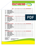 Checklist Kamar Mandi
