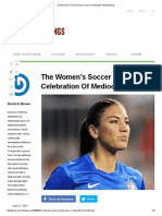 The Women's Soccer World Cup is a Celebration of Mediocrity